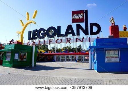 LOS ANGELES - SEP 14:  Legoland California Entrance at the