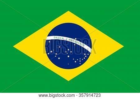 Nation Flag Of Brazil,brazil Flag Texture Illustration Vector