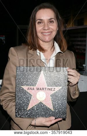 LOS ANGELES - FEB 23:  Ana Martinez with a Mock-up of  a WOF Star for her at the 14th Annual Awards Media Welcome Center at TCL Chinese Theater 6 Lobby on February 23, 2017 in Los Angeles, CA