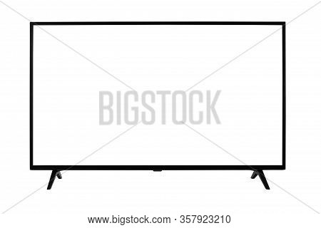 Windscreen Led Or Lcd Internet Tv Monitor Isolated On White Background