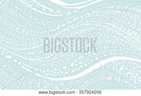 Grunge Texture. Distress Blue Rough Trace. Cute Background. Noise Dirty Grunge Texture. Overwhelming
