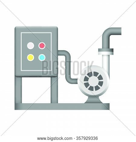 Water Pump And Control Box Cabinet Icon Design.