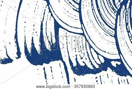 Grunge Texture. Distress Indigo Rough Trace. Delightful Background. Noise Dirty Grunge Texture. Mind