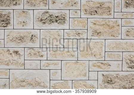 Detail Of A 19th Century Limestone Wall For Backgrounds.