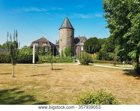 Ratingen, Nrw, Germany - August 22, 2018: Ratingen, Nrw, Germany - August 22, 2018:  View Of The Man