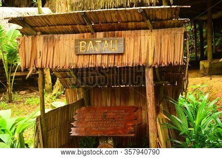 Sabah, My - June 21: Mari Mari Cultural Village Bajau Tribe Old House On June 21, 2016 In Sabah, Mal