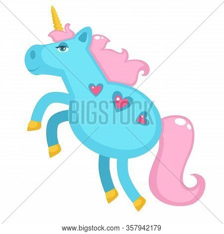 Unicorn With Horn And Tail, Pony With Hearts