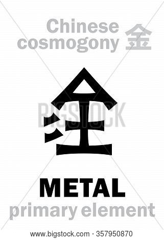 Alchymie Alphabet: Metal -- One Of The Five Primary Elements Of Creation Of The World In Chinese Phi