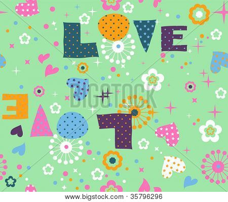 seamless vector love pattern