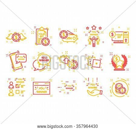 Simple Set Bet Icons. Bet Winnner. Icon In Colorful Style