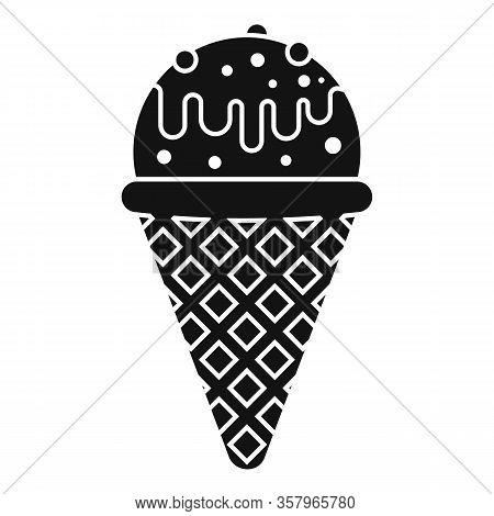Modern Tasty Ice Cream Icon. Simple Illustration Of Modern Tasty Ice Cream Vector Icon For Web Desig