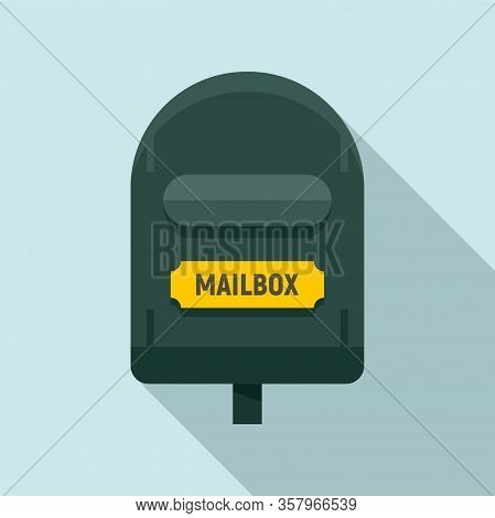 Postal Mailbox Icon. Flat Illustration Of Postal Mailbox Vector Icon For Web Design