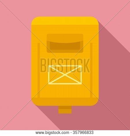 Newsletter Mailbox Icon. Flat Illustration Of Newsletter Mailbox Vector Icon For Web Design