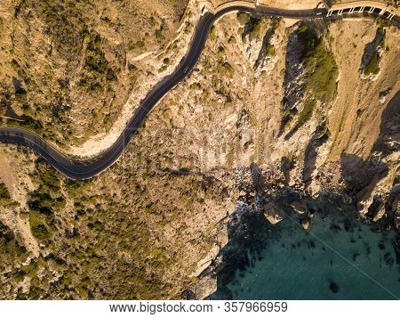 Aerial Of Chapmans Peak Drive, Hout Bay, South Africa