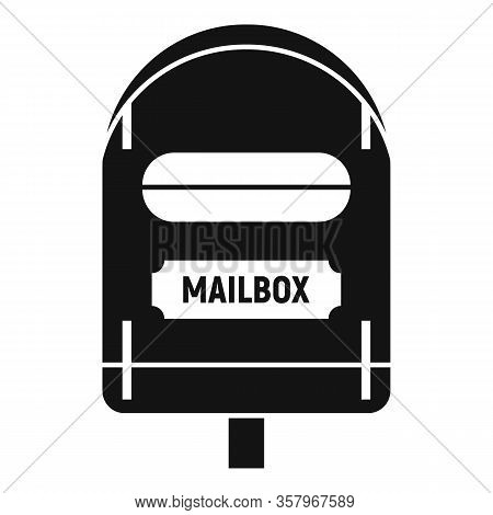 Postal Mailbox Icon. Simple Illustration Of Postal Mailbox Vector Icon For Web Design Isolated On Wh