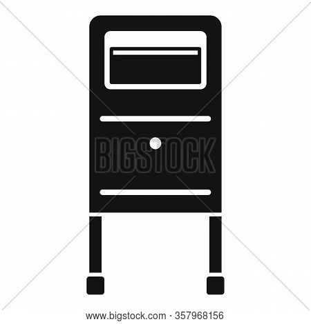Postbox Icon. Simple Illustration Of Postbox Vector Icon For Web Design Isolated On White Background
