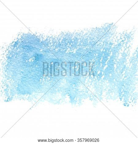 Watercolor Blue Abstract Background. Copy Space. Place For Text.