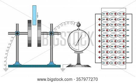 Visual Vector Illustration Demonstrates The Conditions On Which The Conductors Electrical Capacity D