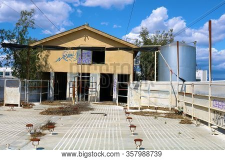 March 25, 2020 In Chino, Ca:  Abandoned Dairy Farm Which Sold Out To Property Investors As Urban Spr