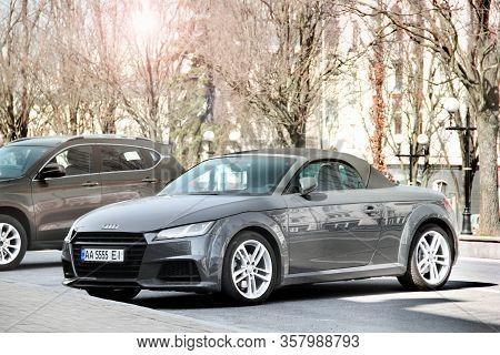 Chernihiv, Ukraine - March 31, 2020: Sports Car Audi Tt In The City