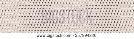 Hand Drawn Whimsical Spotty Dots Seamless Border Pattern. Vector Wonky Appaloosa Spotted Circle Bann