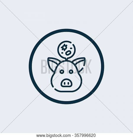 Pig Head Icon Isolated On White Background. Pig Head Icon In Trendy Design Style. Pig Head Vector Ic
