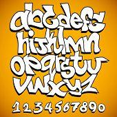 Graffiti font alphabet poster