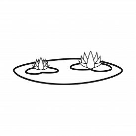 Isolated Object Of Flower And Lotus Sign. Set Of Flower And Leaf Vector Icon For Stock.