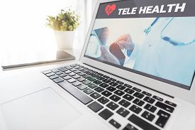 Telemedicine Or Telehealth Concept On Laptop Screen