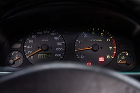 Subaru Forester - Car Panel, Digital Bright Speedometer, Odometer And Other Tools.novosibirsk, Russi