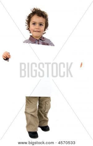 Kid With White Sheet