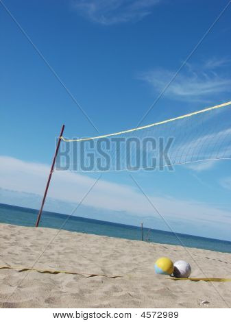 Beach Volleyball Sand Sea Sky