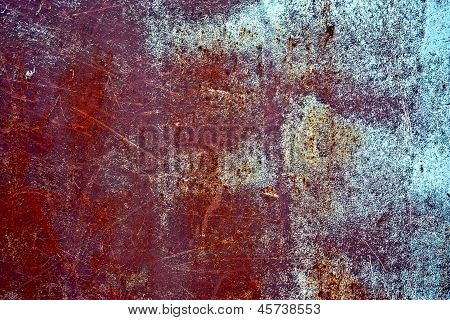 Rusty vintage colored grunge iron textured background poster