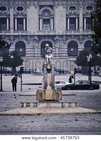 Female Sculpture In Oporto