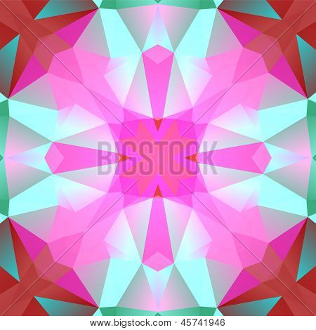 Colorful red and yellow polygon title on black background, vector