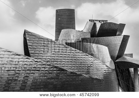 View Of Guggenheim Museum In Bilbao, Spain, Europe.
