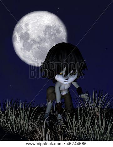 Toon Wolf Boy Prowling