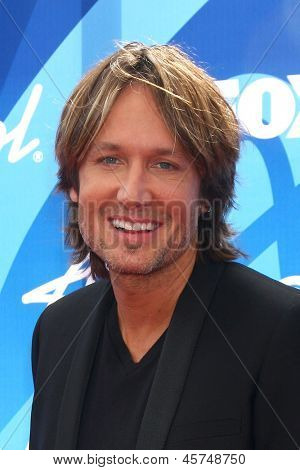 LOS ANGELES - MAY 16:  Keith Urban arrives at the American Idol Season 12 Finale at the Nokia Theater at LA Live on May 16, 2013 in Los Angeles, CA