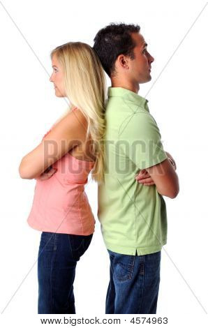 Unhappy Man And Woman