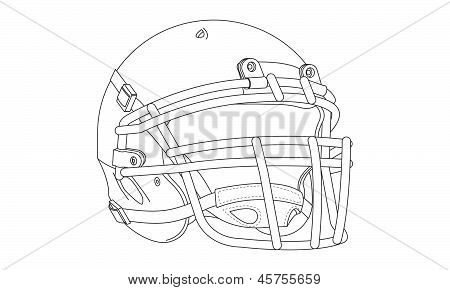 Vector Football Helmet