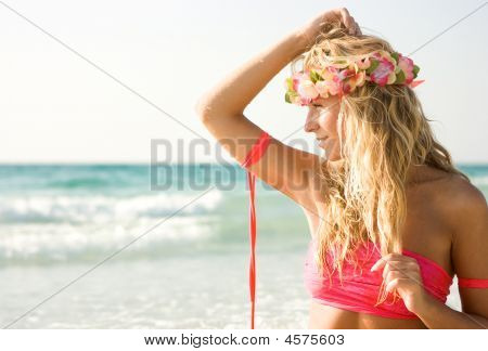 Lady On The Beach