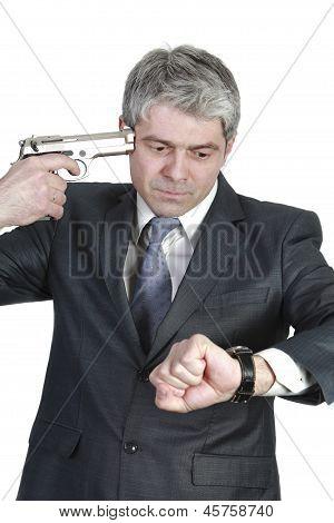 Desperate businessman