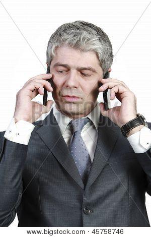 Businessman under pressure