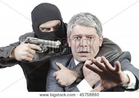 Businessman in danger