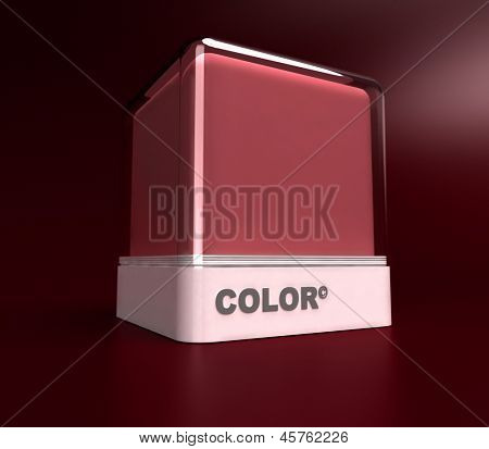 Design block in a burgundy red color