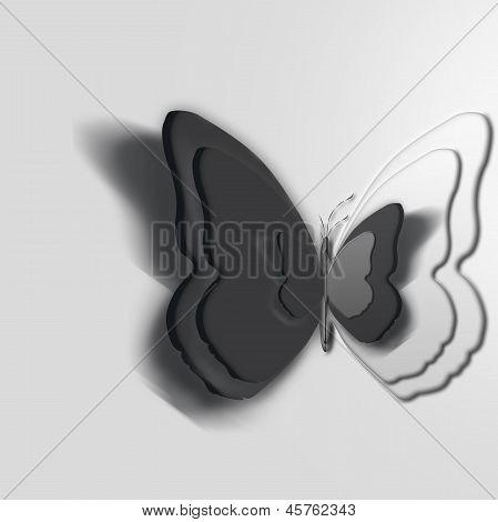 Butterflies Overlapping 3D,