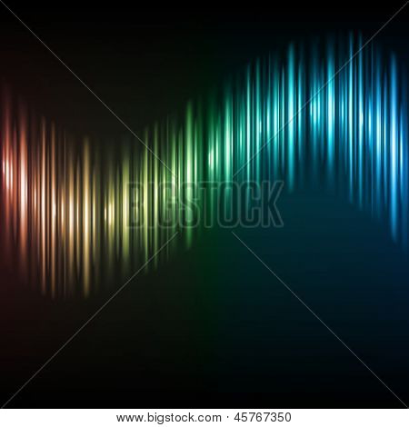 Abstract colorful waveform background. Raster version from vector version.