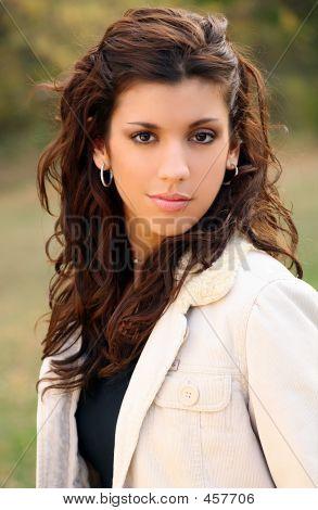 Brown-eyed Brunette Portrait