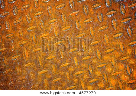 Texture of old rusty pattern metal sheet poster