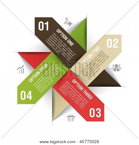 Options infographics template. Vector.